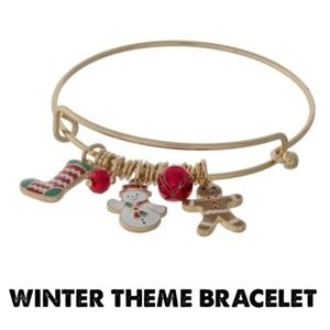 🔥🔥 Winter Snowman Gingerbread Man Bracelet NEW